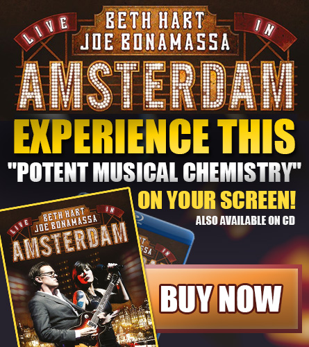 Beth Hart & Joe Bonamassa Live In Amsterdam. Experience this 'potent musical chemistry' on your screen! Also available on CD. Buy now.